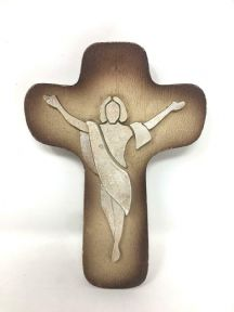 Wall Cross Modern Style Abstract Resin Crucifix Jesus Christ Religious Ornament
